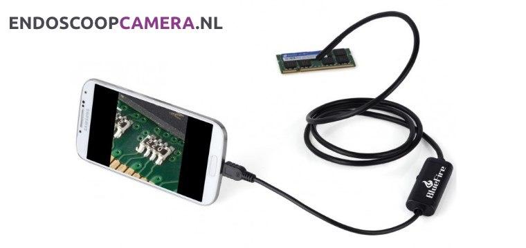 endoscope beeld op mobiel bekijken
