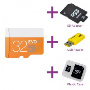 Micro SD kaart 32GB + gratis SD Adapter + USB Adapter 2aaa